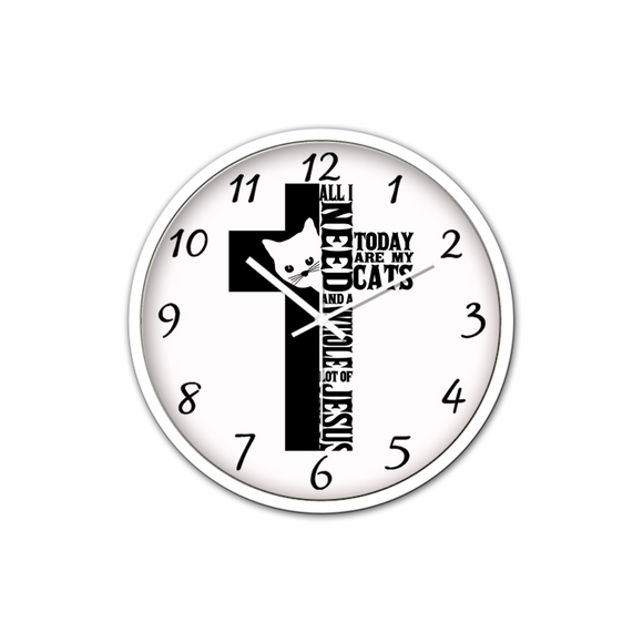 Jesus And Cats-Silen Wall Clock-Wall clock-Elisway