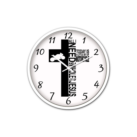 Jesus And Motorcycle-Silent Wall Clock-Wall clock-Elisway