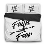 Faith Over Fear-3 Pcs Bedding Sets-Bedding Sets-Elisway