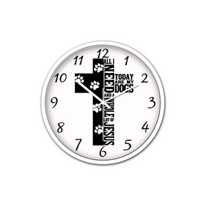 Jesus And Dogs-Silent Wall Clock - elisway