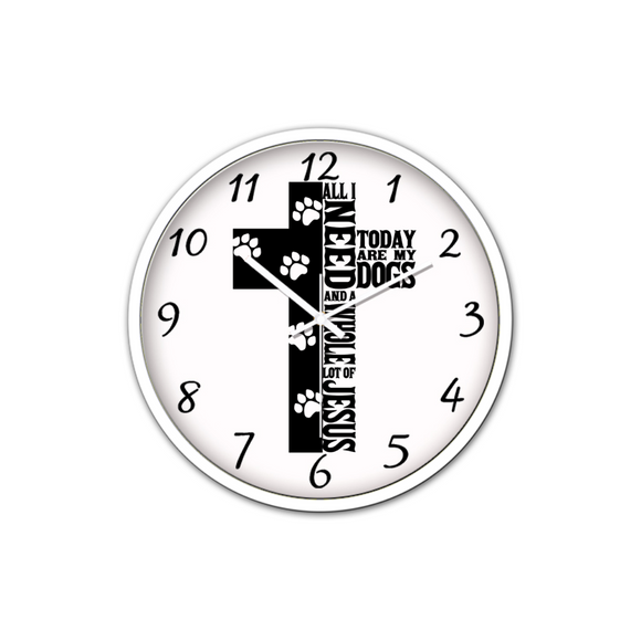 Jesus And Dogs-Silent Wall Clock-Wall clock-Elisway