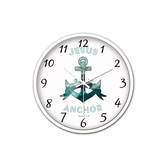 Jesus Is My Anchor-Silent Wall Clock-Wall clock-Elisway