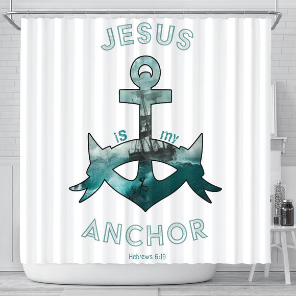 Jesus Is My Anchor- Shower Curtains - elisway