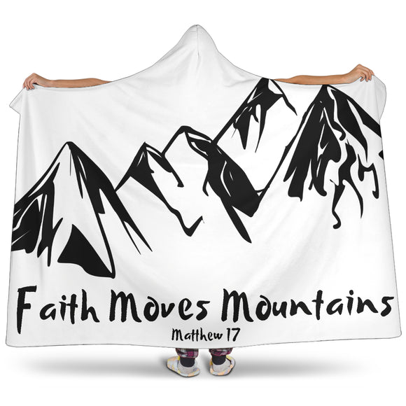 Faith Moves Mountains-Hooded Blanket - elisway