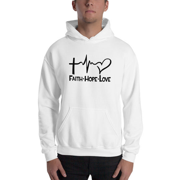 Faith Hope Love-Hooded Sweatshirt - elisway