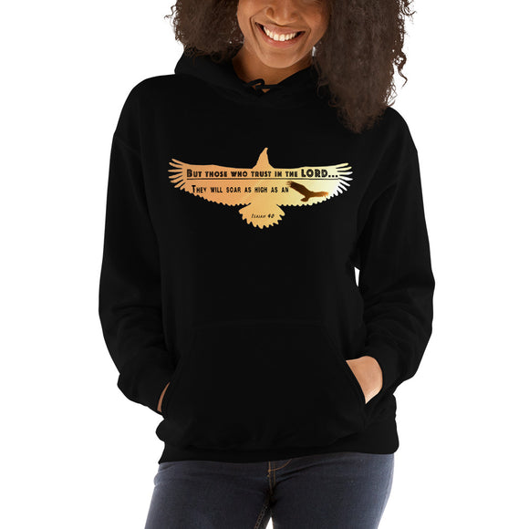 As High As An Eagle-Hooded Sweatshirt-Elisway