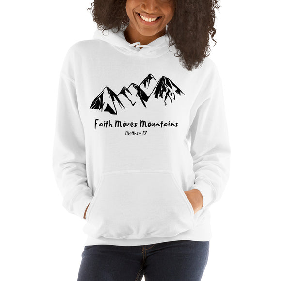 Faith Moves Mountains-Hooded Sweatshirt - elisway