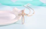 Flower Cross-Necklace - elisway
