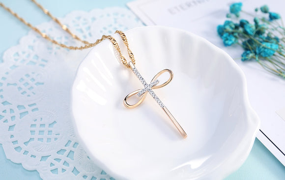 Bowknot Cross-Necklace - elisway