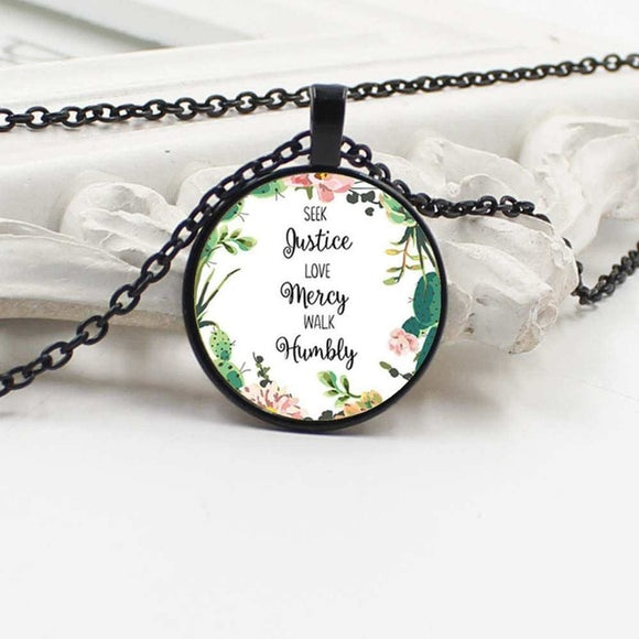 Seek Justice, Love Mercy, Walk Humbly-Necklace - elisway