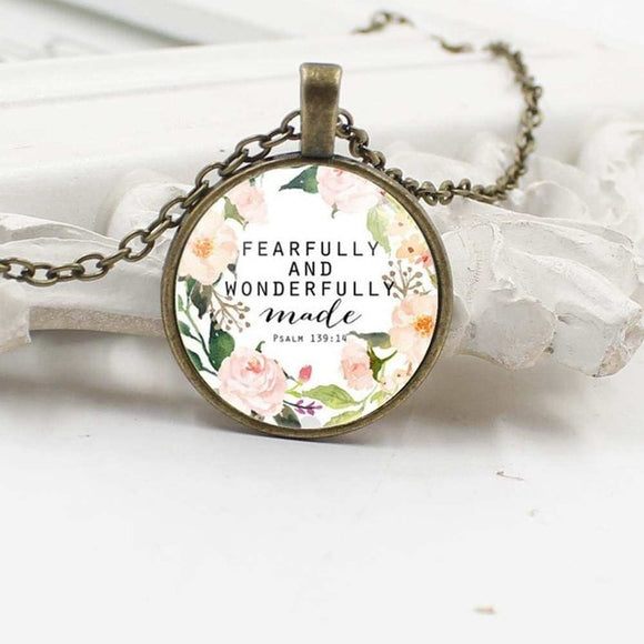 Fearfully And Wonderfully Made, Psalms 139- Necklace - elisway