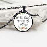 You Have Filled My Heart With Joy, Psalms 4- Necklace - elisway