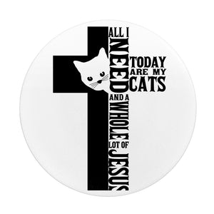 Jesus And Cats-Popsocket-Elisway