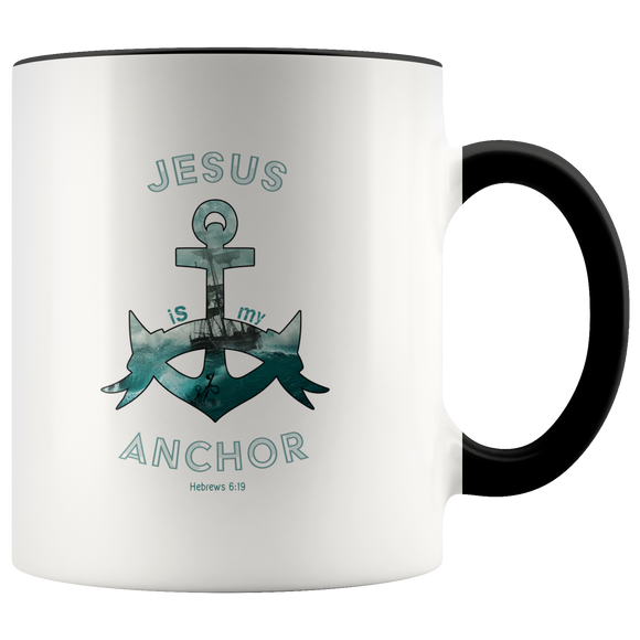 Jesus Is My Anchor-Mug 11oz.-Drinkware-Elisway