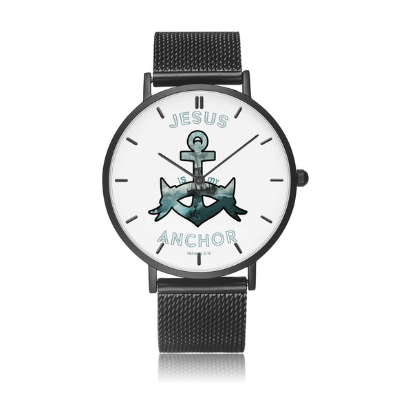 Jesus Is My Anchor-Watch (Stainless Steel Straps)-Elisway