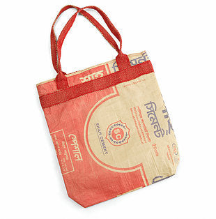 Recycled Red Cement Bag