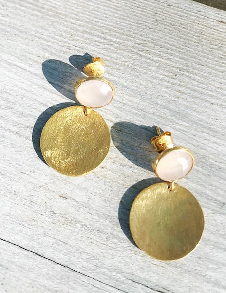 Dome Gem Earrings
