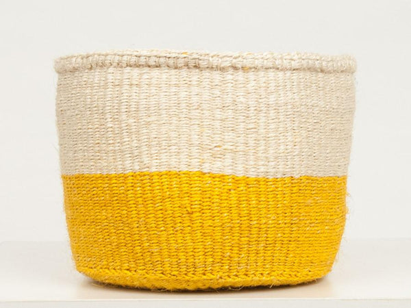 Alizeti Yellow Colour Block Baskets