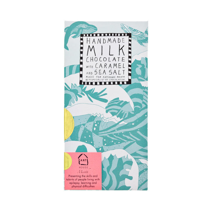 Swim with Whales Forever Handmade Milk Chocolate with Caramel & Sea Salt
