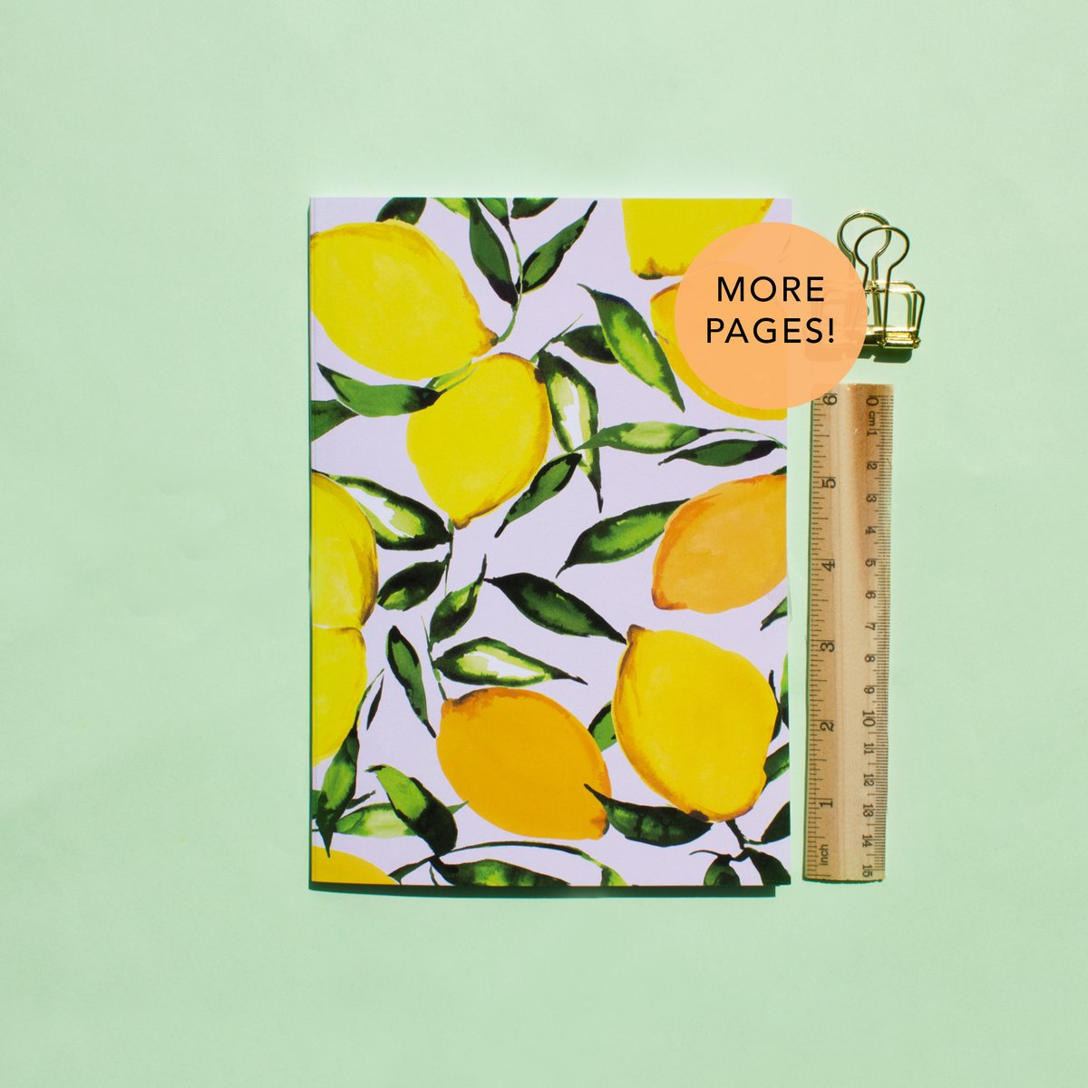 Citrus Lemons Thicker A5 Notebook