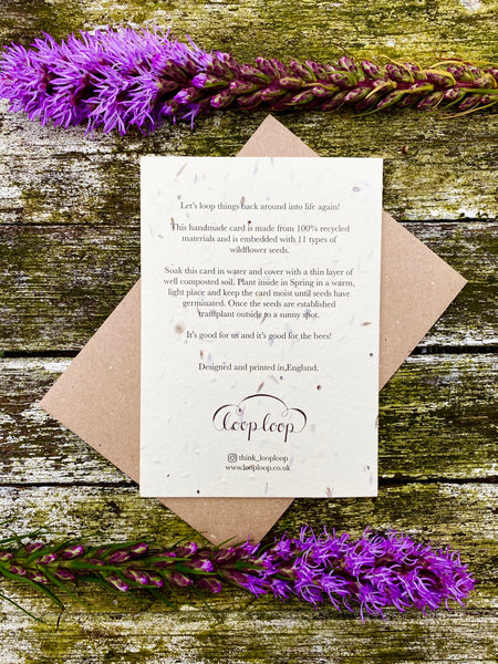 Plantable Flower Card - Foxgloves