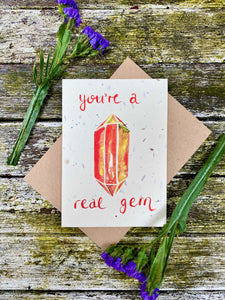 Plantable Flower Card - You're A Real Gem