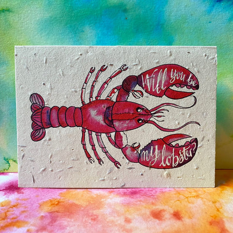 Plantable Flower Card - Lobster