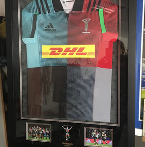 Harlequins 2018/19 Squad Signed & Framed Shirt