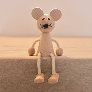Sitting Wooden Mouse