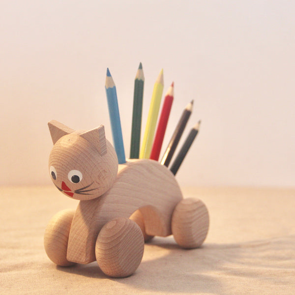 Roll Along Cat with Crayons