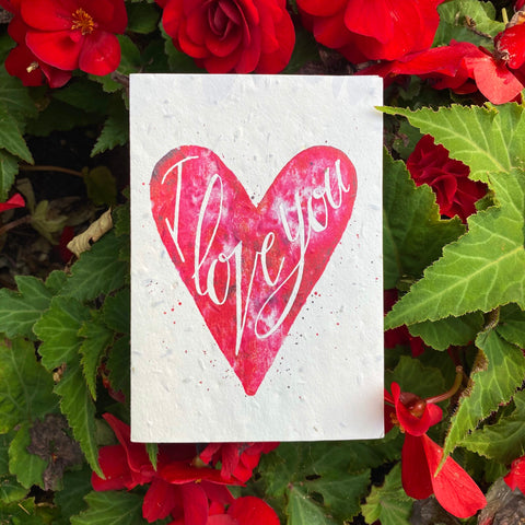 Plantable Flower Card - I Love You