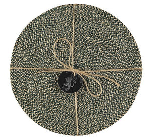 Jute Placemats - Olive Green