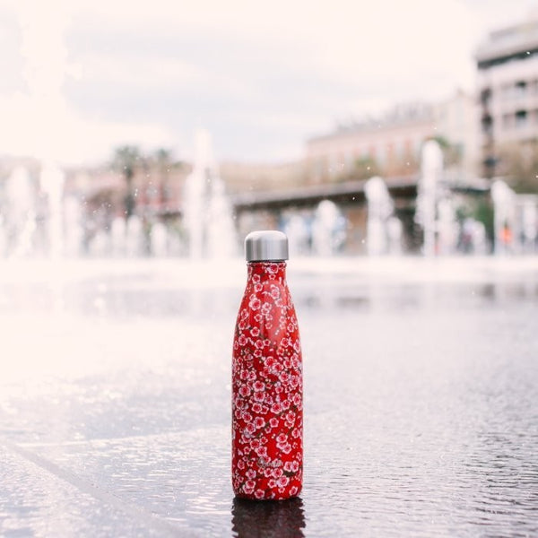 Red Blossom 500ml Water Bottle