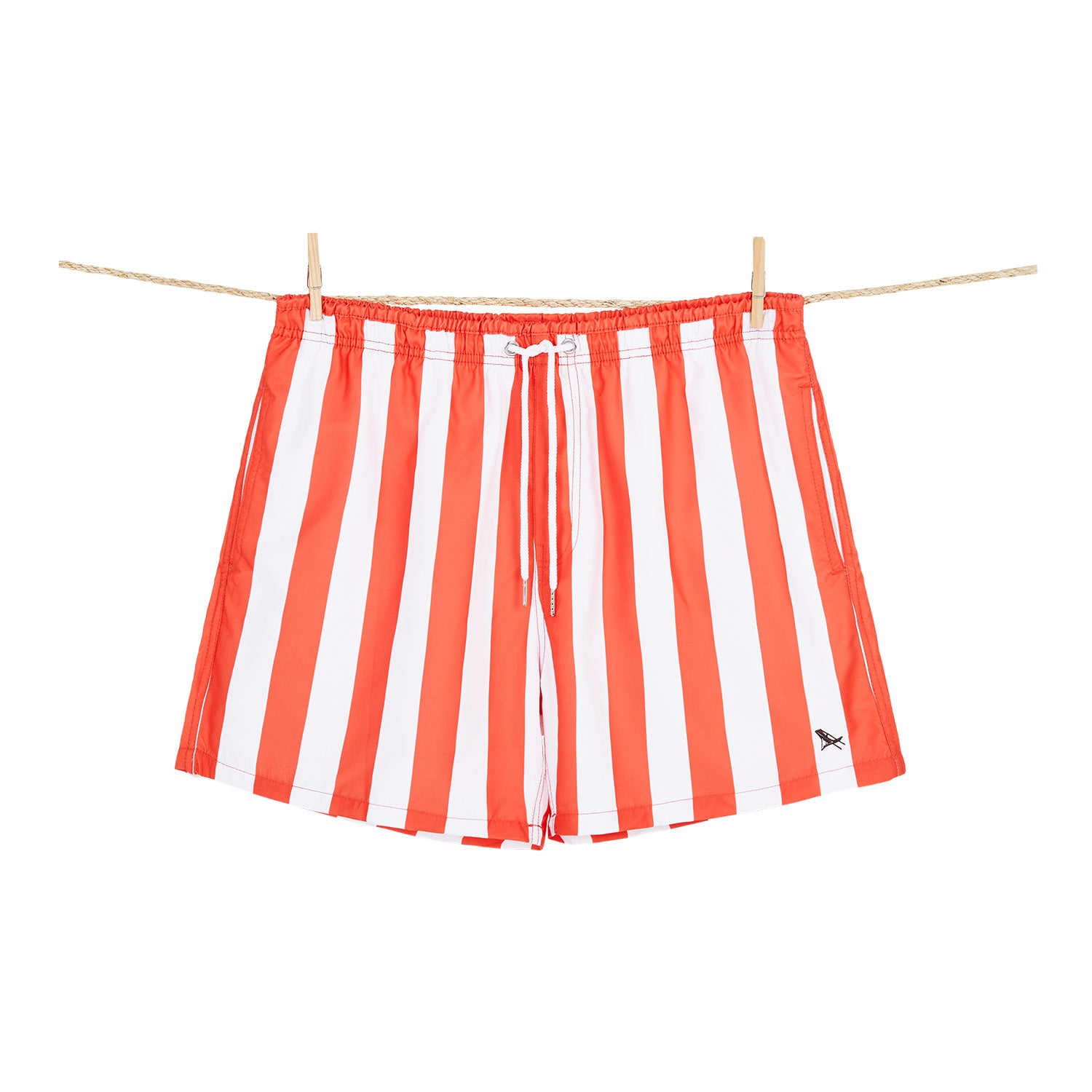 Waikiki Coral Red Swim Shorts