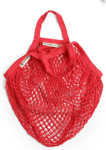 Organic Short Handled String Bag - Red