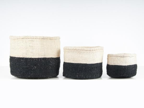 Nyeusi Black Colour Block Baskets