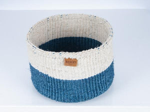Anga Blue Colour Block Basket