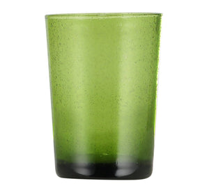 Hand Blown Tumbler - Apple Green