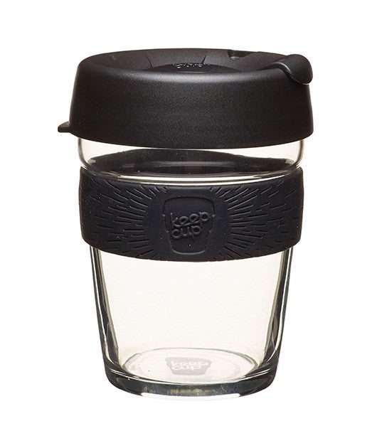 BLACK Glass Reusable Cup by Keep Cup
