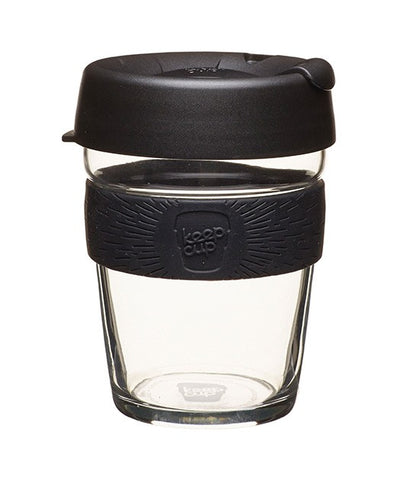BLACK Glass Reusable Keep Cup