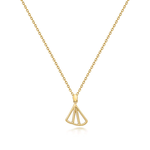 Wedge Fan Necklace - Gold