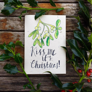 Mistletoe Kiss - Plantable Card