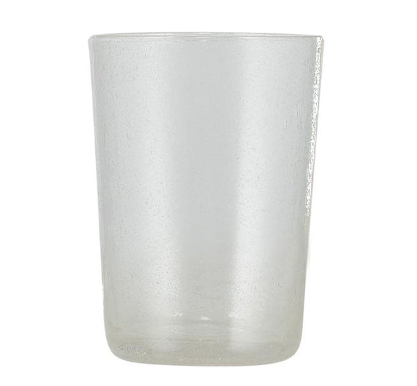 Hand Blown Tumbler - Pearl White