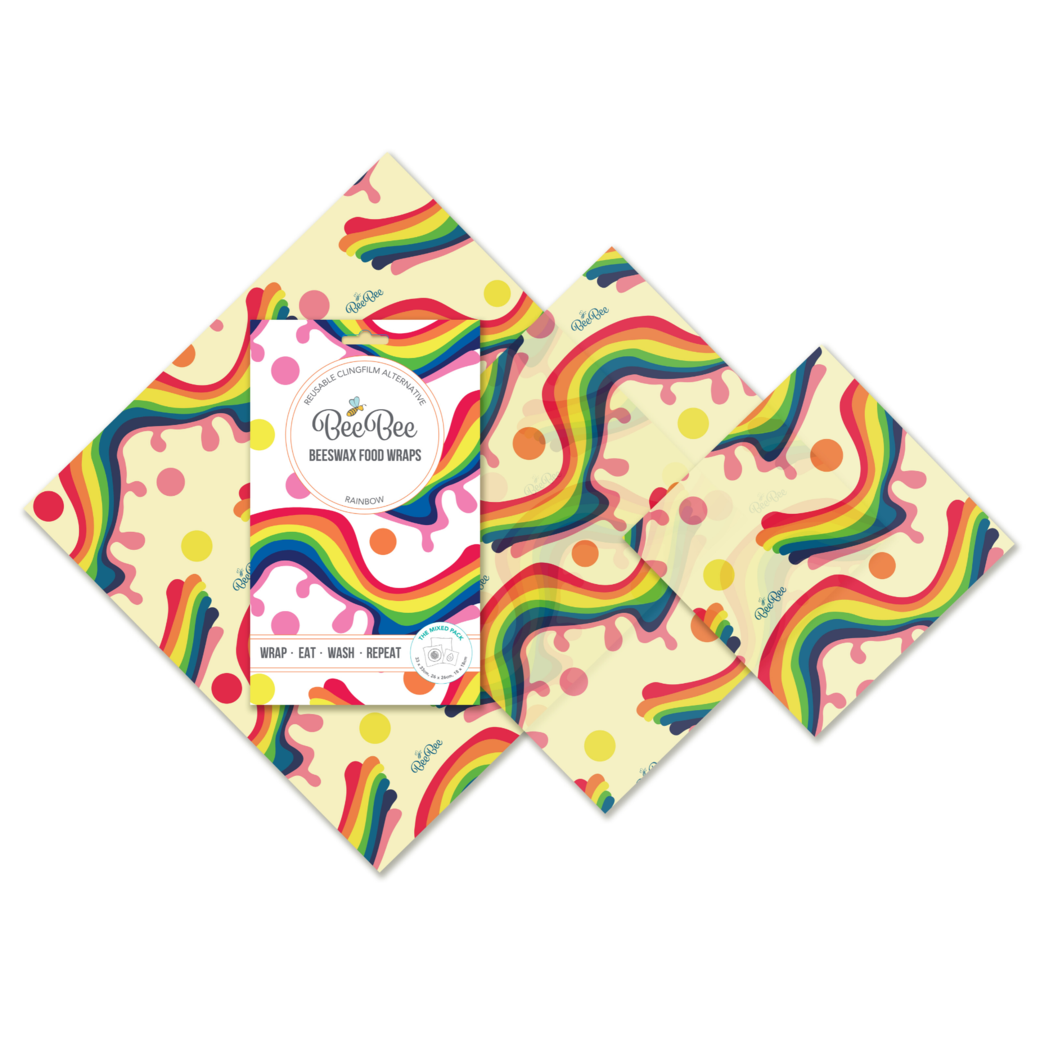 Beeswax Food Wraps - The Mixed Pack - Rainbow
