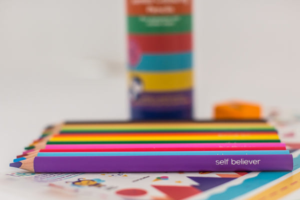 Inspirational Jumbo Colouring Pencils Tube