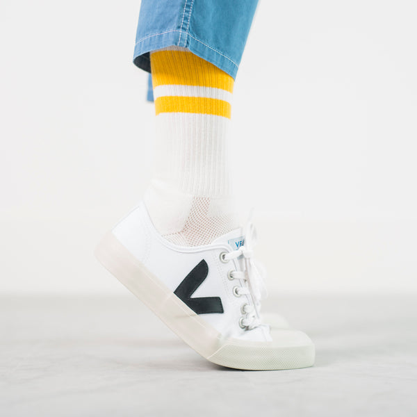 White Gyms Socks