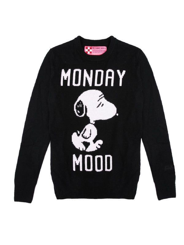 Maglione cachemire MC2 Saint Barth Snoopy Monday Mood