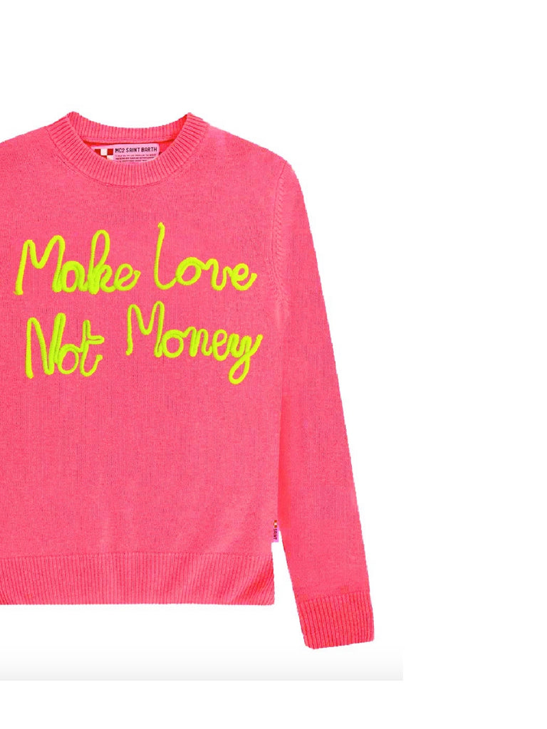 Maglione cachemire MC2 Saint Barth Make love not money
