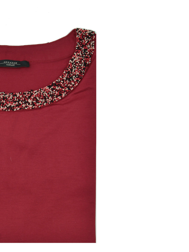 T-shirt Weekend MaxMara con perline