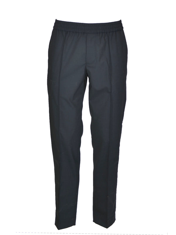 Pantaloni sporty Emporio Armani in tessuto technical wool